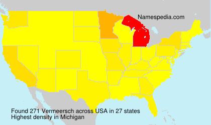 Surname Vermeersch in USA