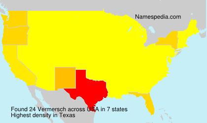 Surname Vermersch in USA