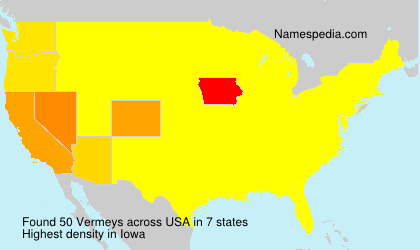 Surname Vermeys in USA