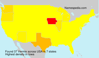 Surname Vermie in USA