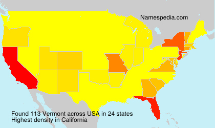 Surname Vermont in USA