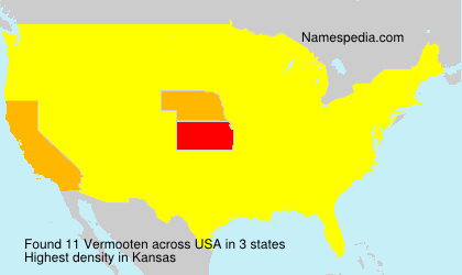 Surname Vermooten in USA