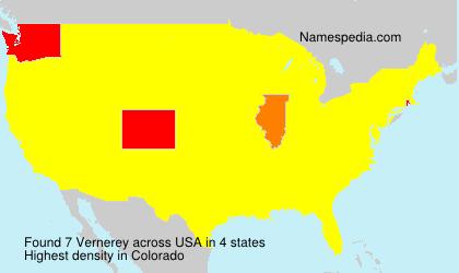 Surname Vernerey in USA