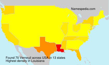 Surname Verneuil in USA
