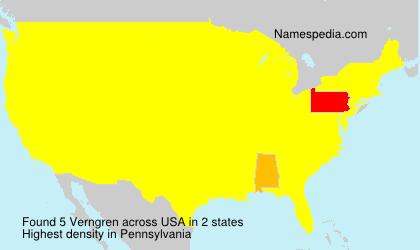 Surname Verngren in USA