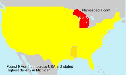 Surname Vernham in USA