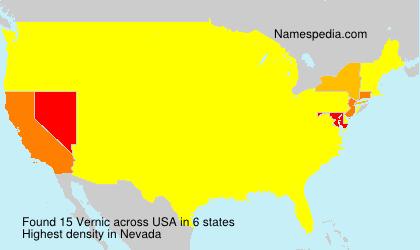 Surname Vernic in USA