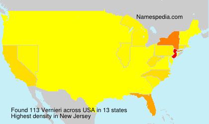 Surname Vernieri in USA