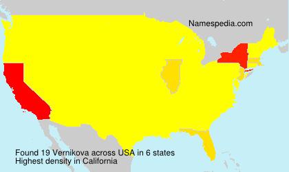 Surname Vernikova in USA