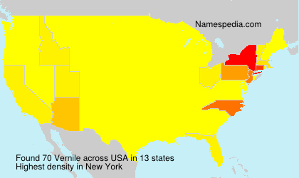Surname Vernile in USA