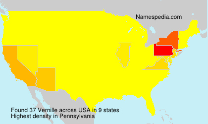 Surname Vernille in USA