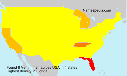 Surname Vernimmen in USA