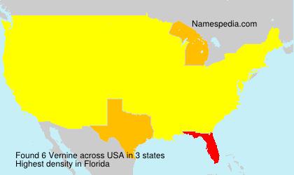 Surname Vernine in USA