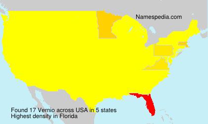 Surname Vernio in USA