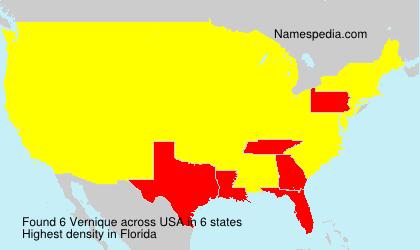 Surname Vernique in USA