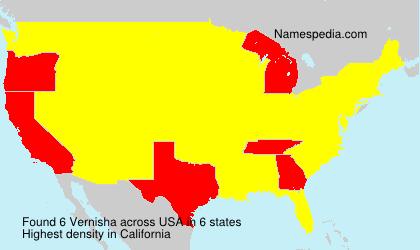 Surname Vernisha in USA