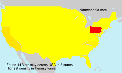 Surname Vernitsky in USA