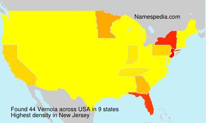Surname Vernoia in USA