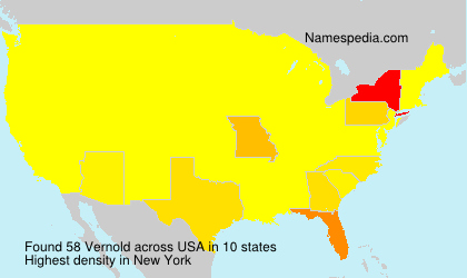 Surname Vernold in USA