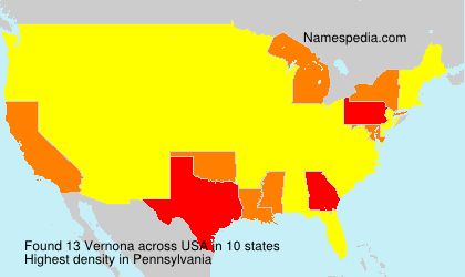 Surname Vernona in USA