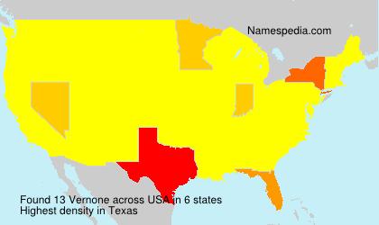 Surname Vernone in USA