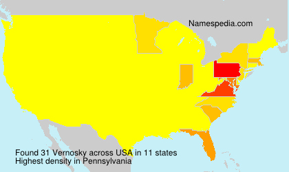 Surname Vernosky in USA