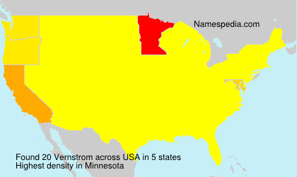 Surname Vernstrom in USA
