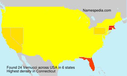 Surname Vernucci in USA