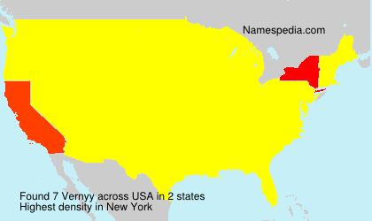 Surname Vernyy in USA