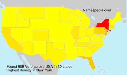 Surname Vero in USA