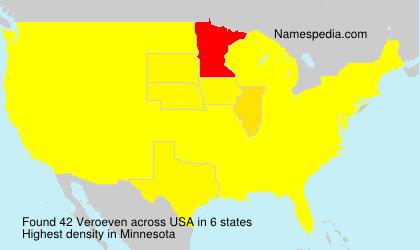 Surname Veroeven in USA