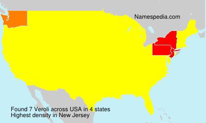 Surname Veroli in USA