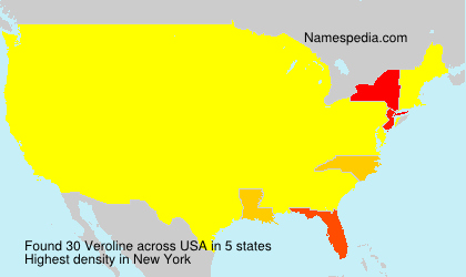 Surname Veroline in USA