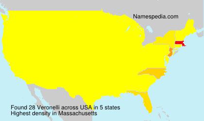 Surname Veronelli in USA