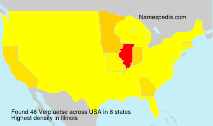 Surname Verplaetse in USA