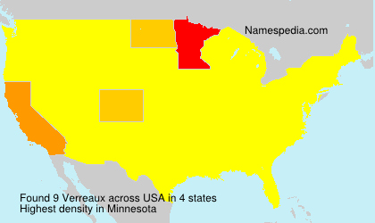 Surname Verreaux in USA