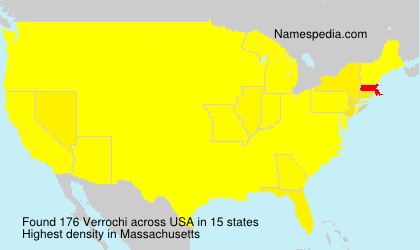 Surname Verrochi in USA