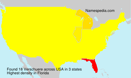 Surname Verschuere in USA