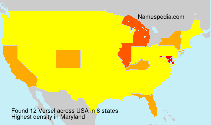 Surname Versel in USA