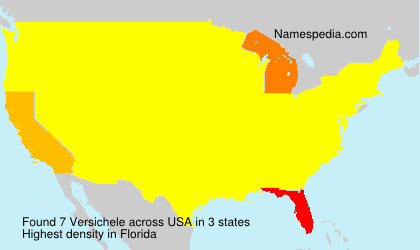 Surname Versichele in USA
