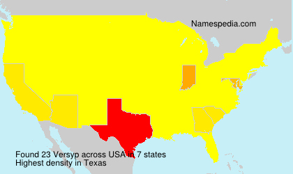 Surname Versyp in USA