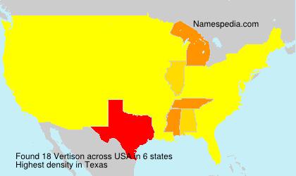 Surname Vertison in USA