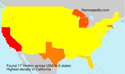 Surname Vertkin in USA
