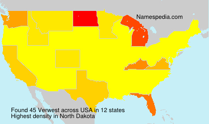 Surname Verwest in USA