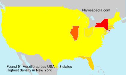 Surname Verzillo in USA