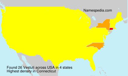 Surname Vestuti in USA