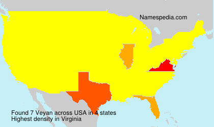 Surname Veyan in USA