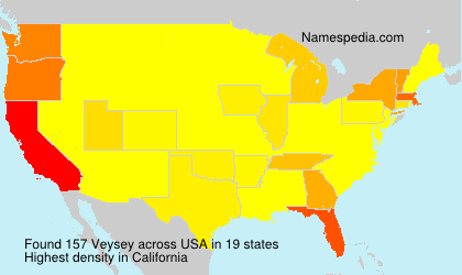 Surname Veysey in USA