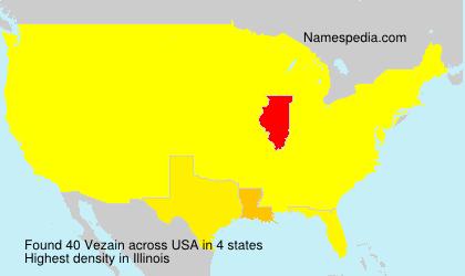 Surname Vezain in USA