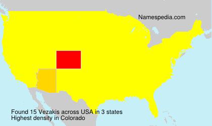Surname Vezakis in USA
